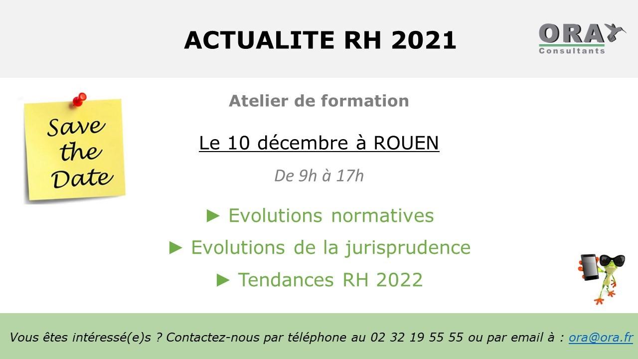 Actualité RH - ORA CONSULTANTS 10 décembre 2021